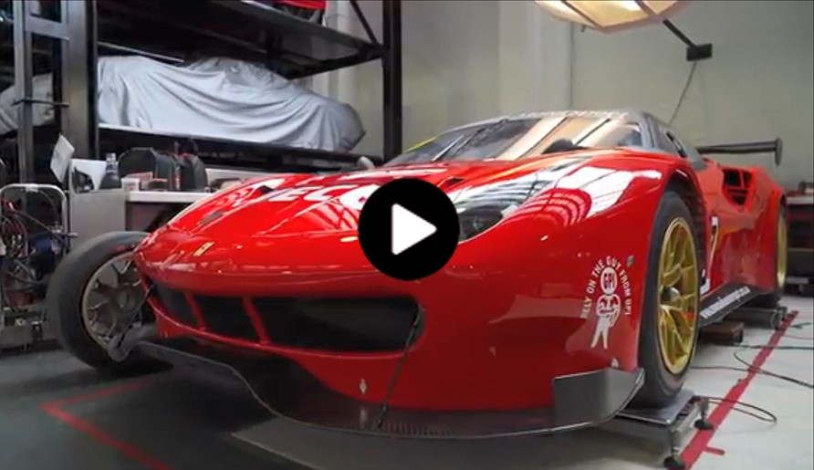 D'Alberto introduces the new Ferrari 488 GT3