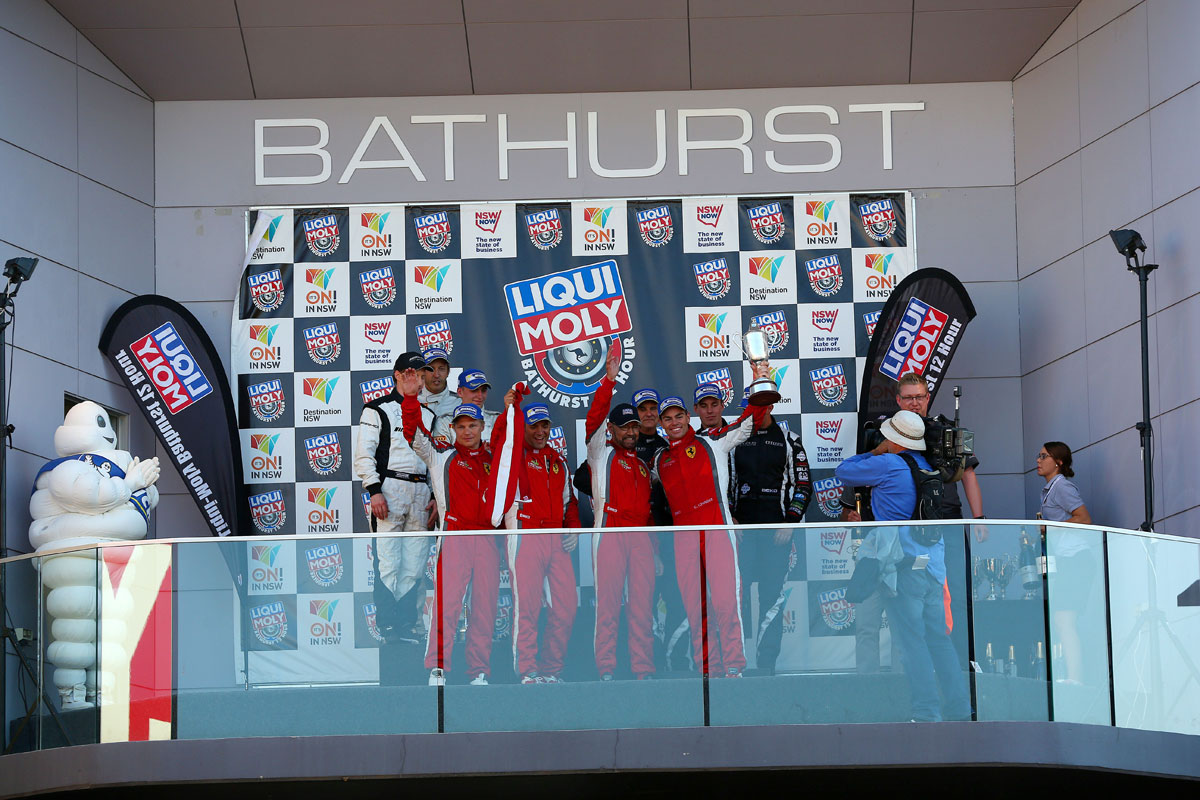 Maranello Motorsport Ferrari wins the 2014 Bathurst 12 Hour