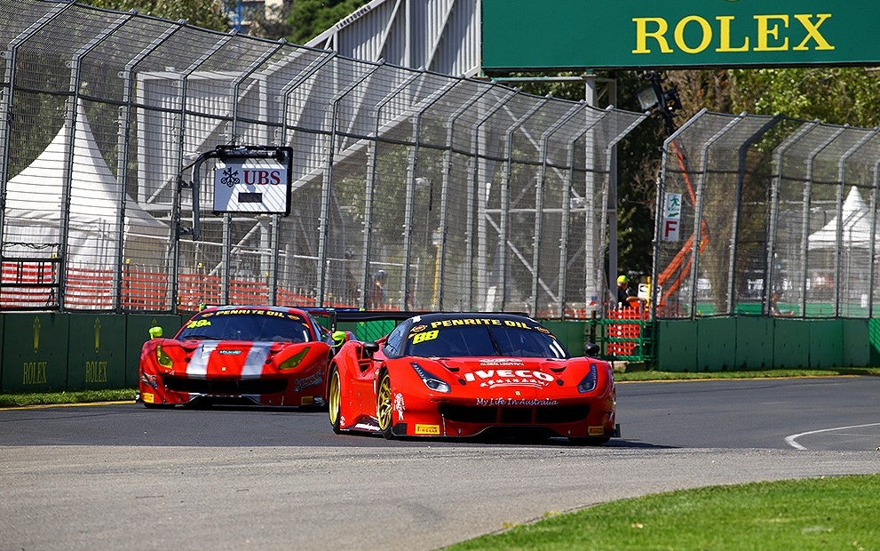 New Ferrari 488 stripped of Albert Park GT Pole